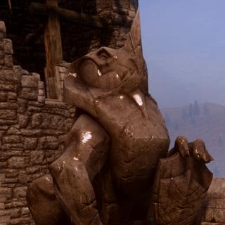 Fereldan wyvern statue