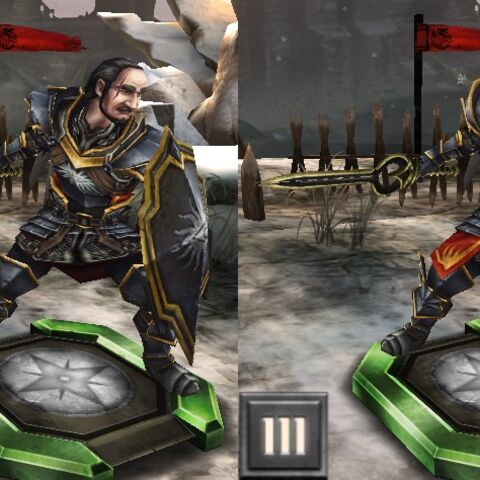 Tier progression of Byron in <i>Heroes of Dragon Age</i>