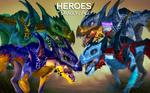 Детеныши разных видов драконов