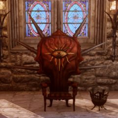 Inquisition Throne with both accessories