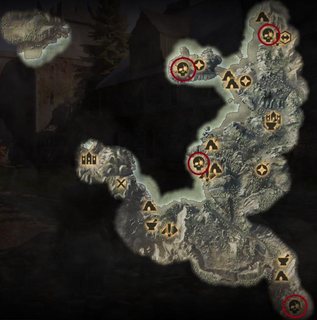 Scherben an der Küste - Karte