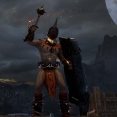 Ein Venatori-Gladiator