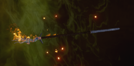 Ведьминский огненный посох