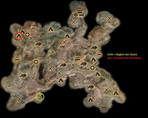 Die Hinterlande - Karte einer Ackerland-Höhle