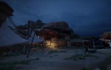 Sand und Verfall - Lager bei den Schattigen Bergen