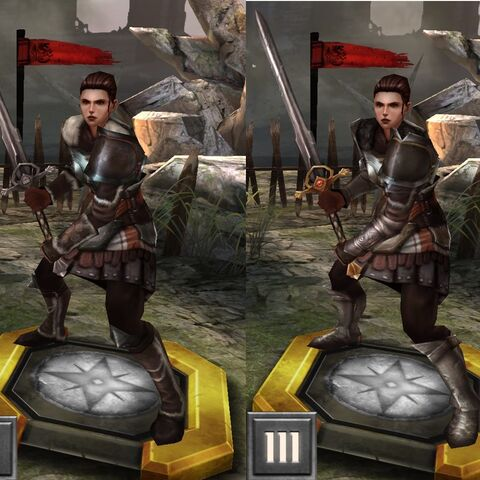 Tier IV Ser Cauthrien in <i>Heroes of Dragon Age</i>