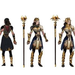 Artwork of Grand Enchanter Fiona's tier progression in <i><a href=