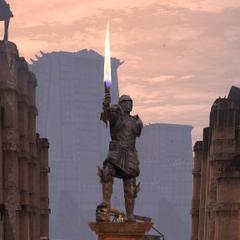Statue des Champions von Kirkwall