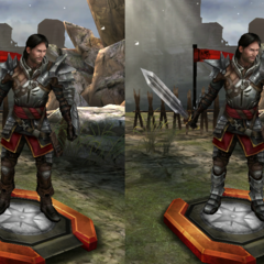 Tier progression of Samson as a Templar in <i>Heroes of Dragon Age</i>