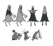 Демон отчаянья (Карикатура)