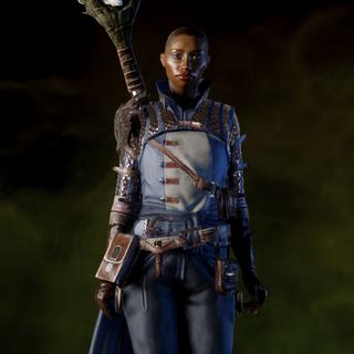 Vivienne wearing Warden Battlemage Armor