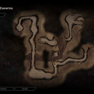 Map of the Forgotten Caverns