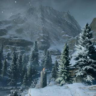 Blick von den Bergen