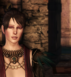 Morrigan at castle