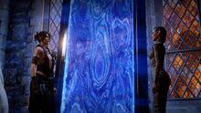 Morrigan zeigt Inquisitor Eluvian