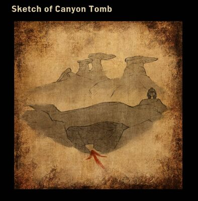 Sketch of Canyon Tomb