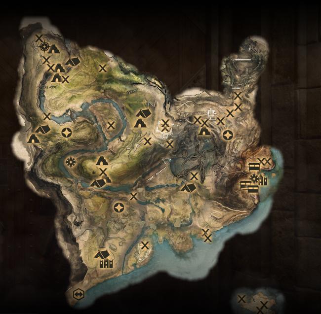 Die Frostgipfelsenke - Karte