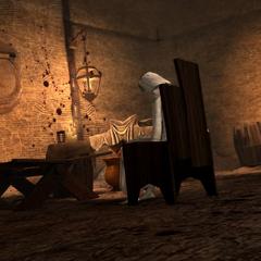 Leandra im Versteck des Mörders