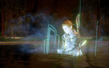 Der Inquisitor trinkt aus der Quelle