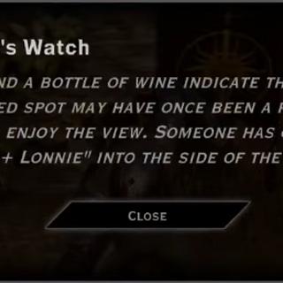 Wyvern's Watch Landmark Text