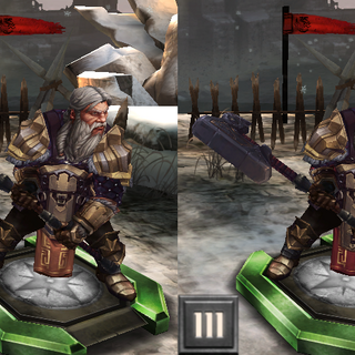 Tier progression of King Endrin Aeducan in <i>Heroes of Dragon Age</i>