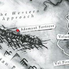Eine Karte, die den Standort der Festung zeigt