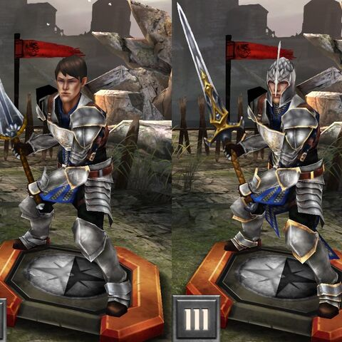 Tier progression of Grey Warden Carver in <i><a href=