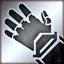 Heavy gloves silver DA2
