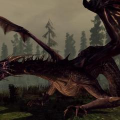 Flemeth's High dragon form in <i><a href=