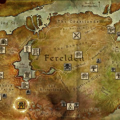 Geografische Lage von Honnleath in Ferelden