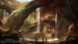 Inquisition concept art - rocks and water