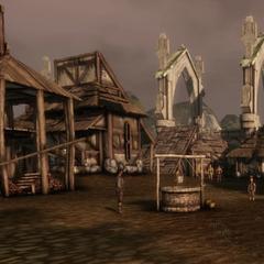 Das Zentrum mit Dorfbrunnen