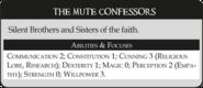 Священники Внимающей Андрасте статистика