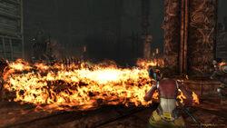 Płonący olej