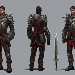 Artwork of Templar Samson's tier progression in <i>Heroes of Dragon Age</i>