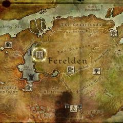 Geografische Lage des Hafens in Ferelden