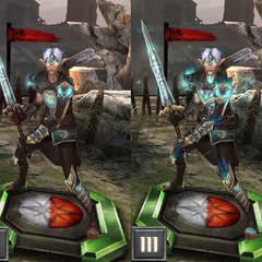 Tier progression of Lyrium Fenris in <i>Heroes of Dragon Age</i>