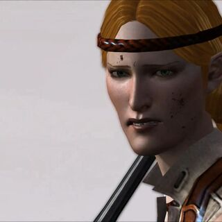 Aveline facing down darkspawn