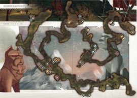 Расколотая гора карта