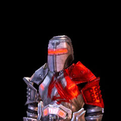 Dwarf in the Blood Dragon Armor