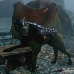 Hessarians Jagdhund, eine gepanzerte Mabari-Art des Kults <a href=