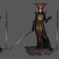Artwork of Divine Cassandra's tier progression in <i>Heroes of Dragon Age</i>
