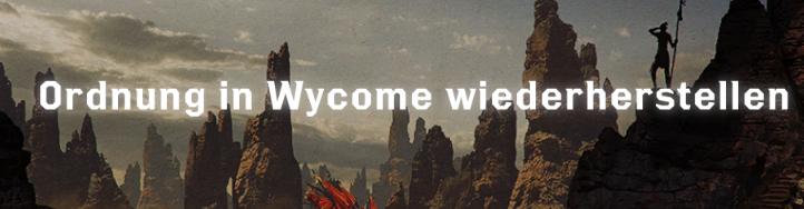 Ordnung in Wycome wiederherstellen - Font