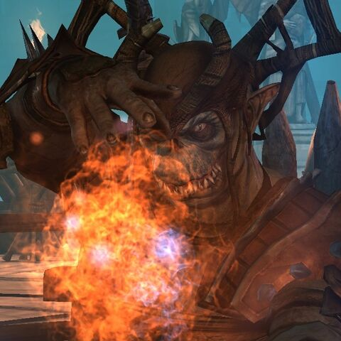 Genlock necromancer casting a fire spell