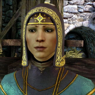 Hooded Courier in the elven alienage