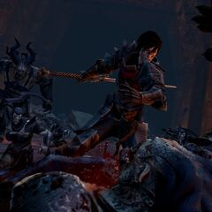 Female Hawke fighting <a href=