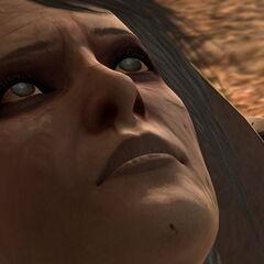 Leandra stirbt in Hawke Armen