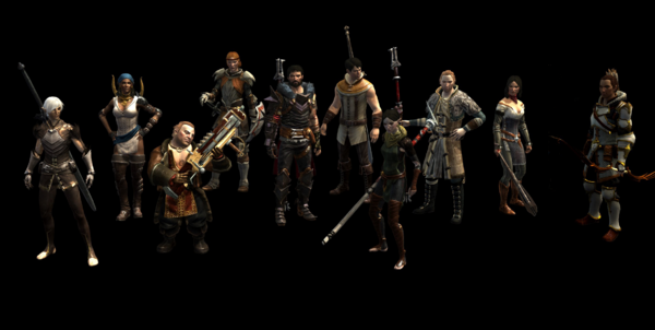 Dragon Age 2 Party Select