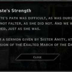 Andraste's Strength Landmark Text