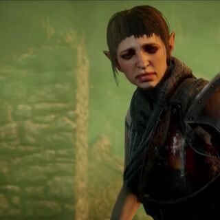 Sera in the <i>Enemy of Thedas</i> trailer
